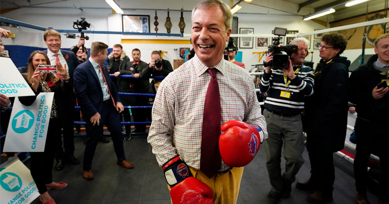 Farage Slams Johnson, Announces Massive Brexit Push