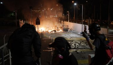 Hong Kong Riot Police Fire Tear Gas at University Campus