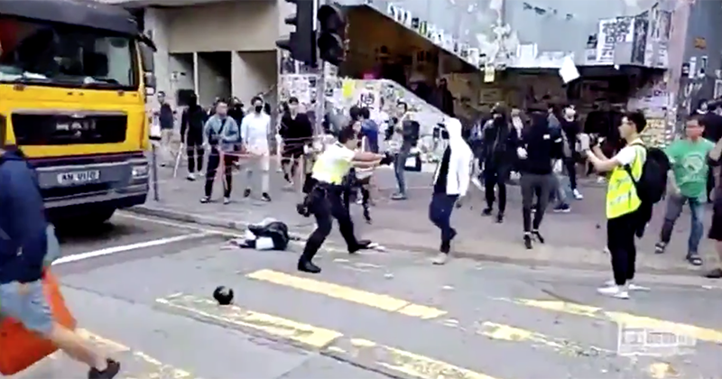Hong Kong Police Reportedly Fire Live Rounds, Hit At Least One Protester