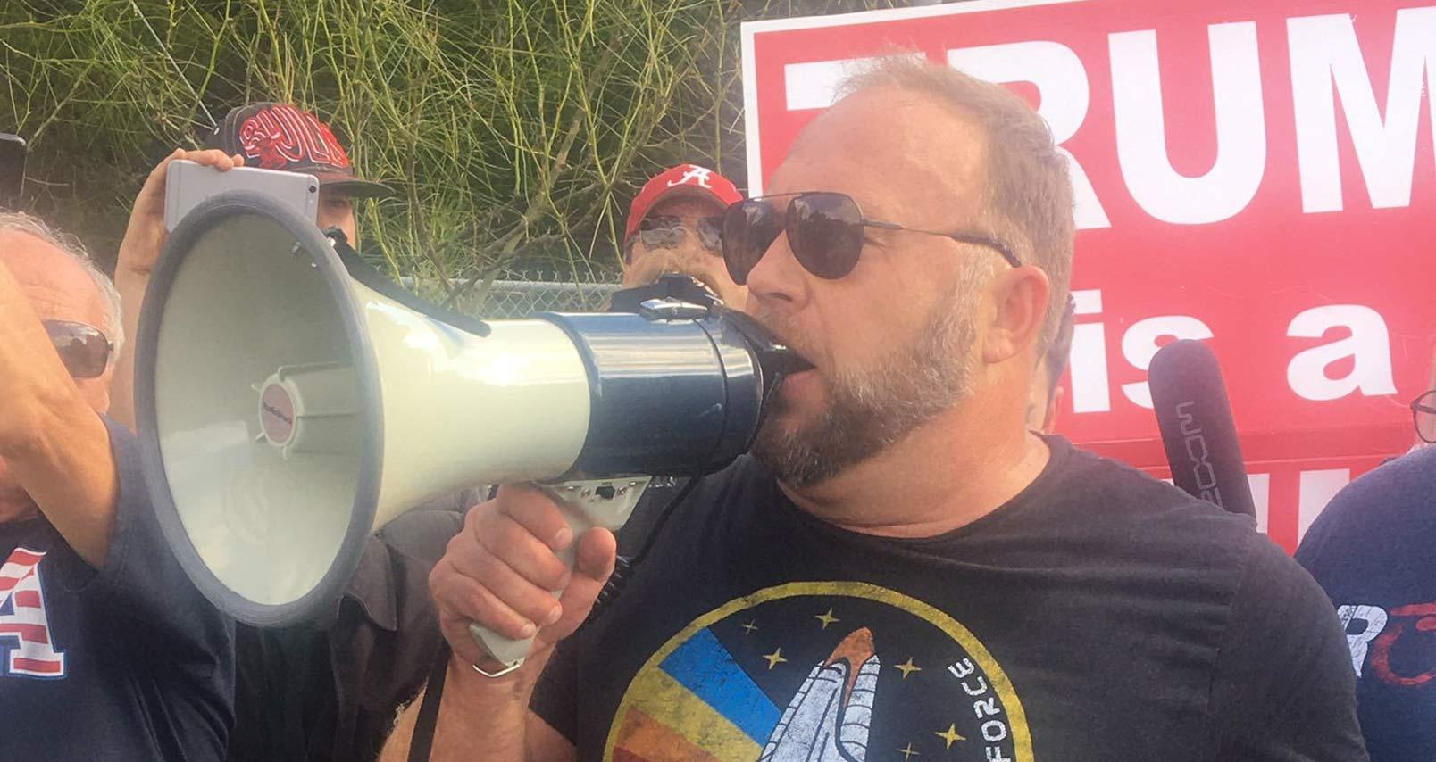WarRoom: Alex Jones Bullhorns Trump & Antifa in Austin, Texas