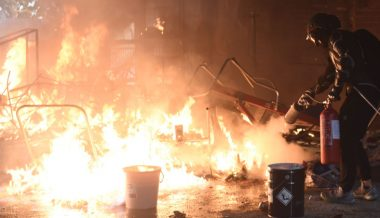 "Man Set On Fire In Hong Kong After Confronting ""Enemy Of The People"" Rioters"