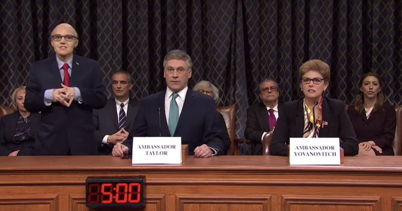 Video: 'Saturday Night Live' Mocks Democrats' 'Boring' Impeachment Hearings