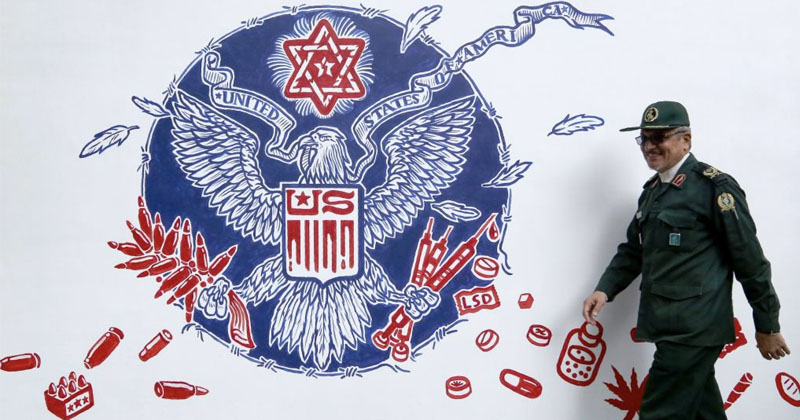 Iran Unveils New Anti-American Murals at Former US Embassy
