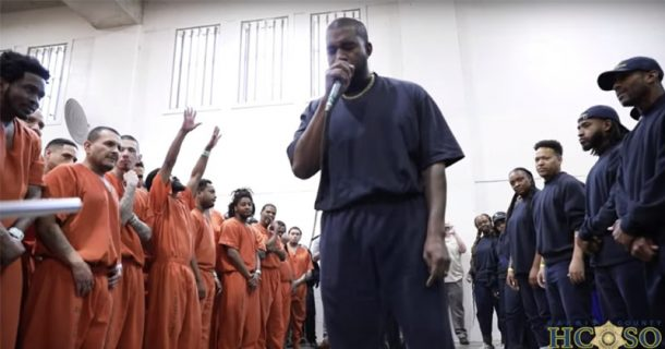Must Watch: Kanye West Performs Surprise 'Worship Service' Concert At Texas Jail