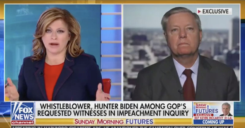 'Stink to High Heaven': Graham Warns Whistleblower Likely A 'Deep State' Friend of Schiff