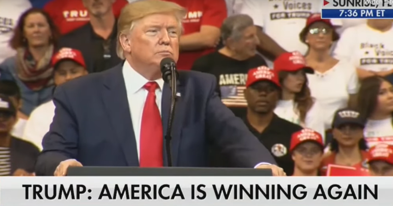 "MAGA Rally: Trump Gets Crowd To Chant ""Bullshit"" Over Impeachment"