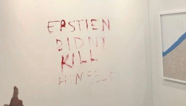 Duct-Taped Banana 'Art' Vandalized With 'Epstein Didn't Kill Himself' Sign