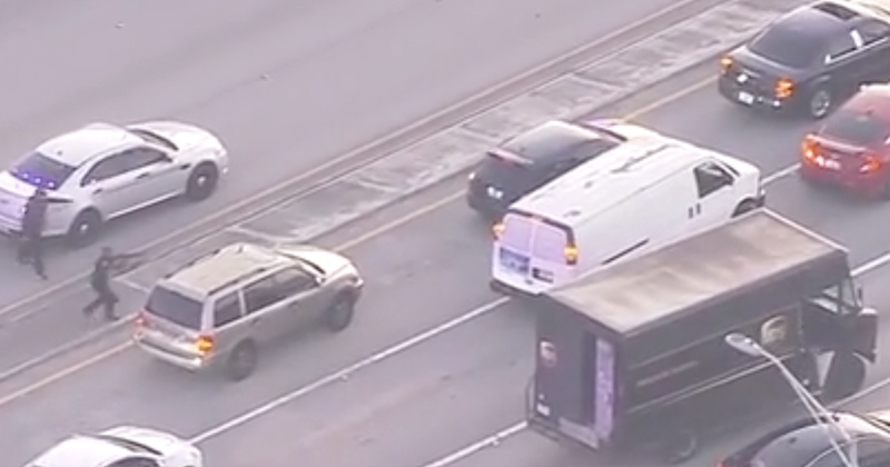 Video: UPS Driver, Innocent Bystander Fatally Shot After Police Open Fire Amid Rush Hour Traffic