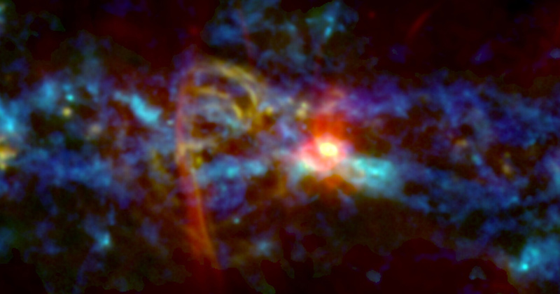 GISMO instrument maps inner Milky Way, sees cosmic 'candy cane'