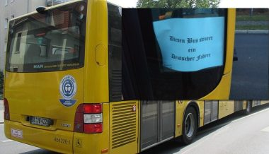 Man Fired Over 'Driven by a German' Sign on Bus