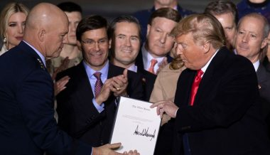 President Trump Signs Defense Bill Creating Space Force — First New Military Branch Since 1947