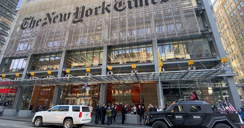 Livestream: Owen Shroyer Confronts The New York Times In Infowars Battle Tank