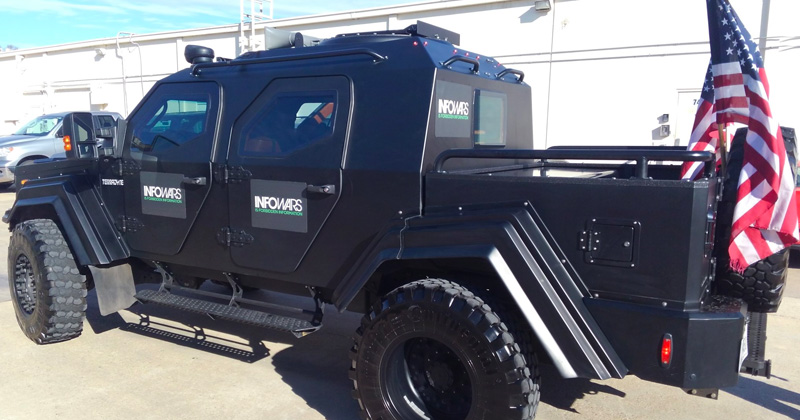 Watch: Owen Shroyer and Infowars Crash Dem Impeachment Rally In Armored Truck