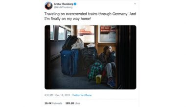 Greta Thunberg Laments 'Overcrowded' Train, German Railway Reveals She Had First Class Seat