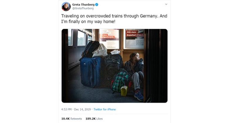 Greta Thunberg Laments 'Overcrowded' Train, German Railway Reveals She Had First Class Seat