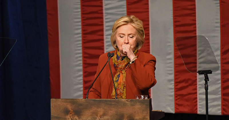 Not Again! Hillary Clinton Suffers Coughing Fit On Howard Stern