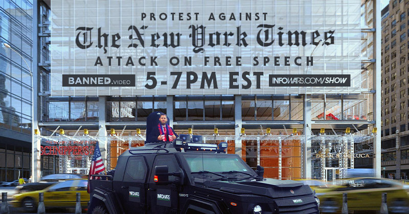 Livestream: Protest Against New York Times' Attack on Free Speech