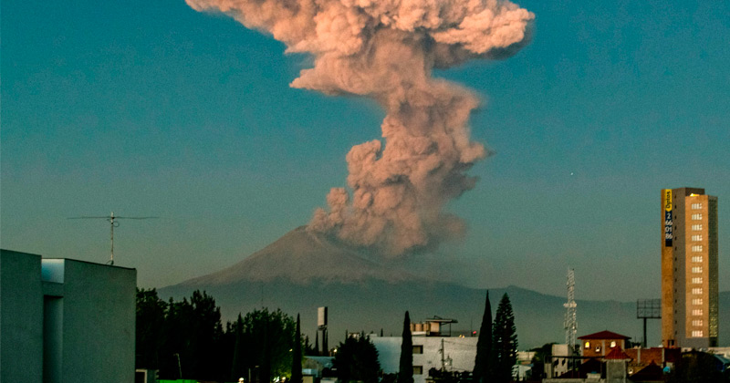 Mexico issues yellow alert after Popocatepetl volcano erupts spectacularly