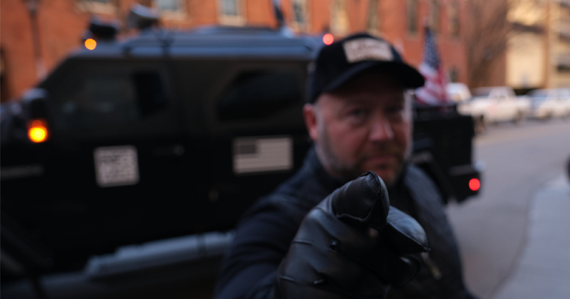 Alex Jones Storms Virginia In Battle Tank to Support 2nd Amendment