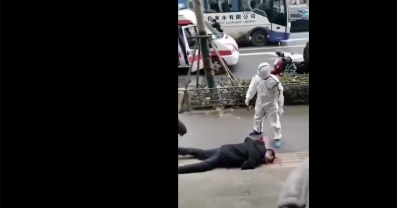 Shock Videos Reveal Chinese Collapsing on City Streets As Coronavirus Spreads