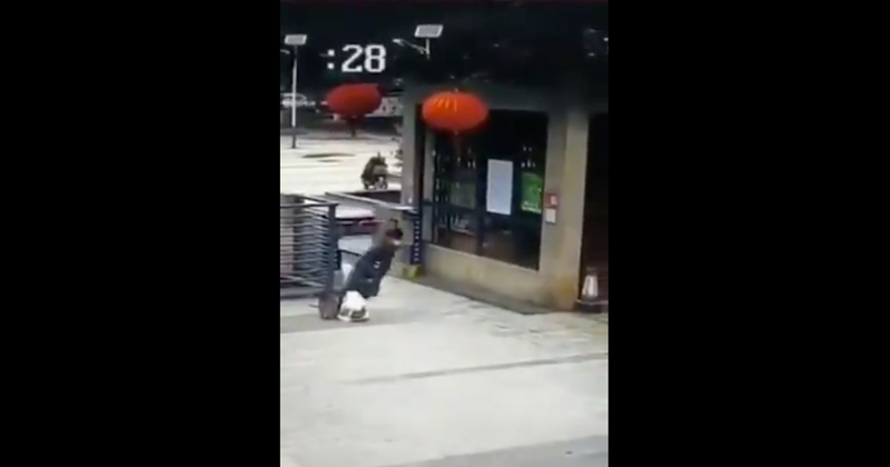 Video Shows Man Suddenly Collapsing in Public Amid Coronavirus Outbreak