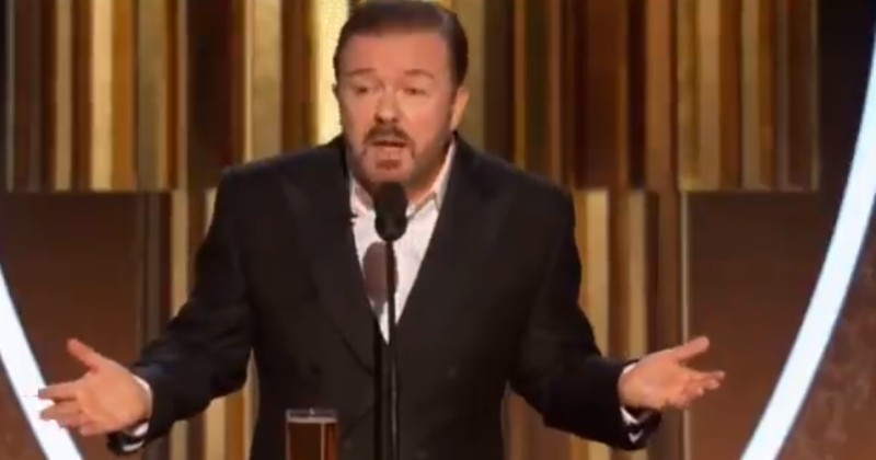 Ricky Gervais Drops 'Epstein Didn't Kill Himself' Joke at Golden Globes