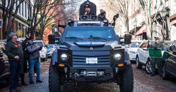 Infowars Armored Truck Is Viral Sensation At Virginia 2nd Amendment Rally