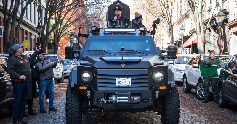 Infowars Armored Truck Is Viral Sensation At Virginia 2nd Amendment Rally