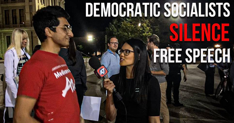 Democratic Socialists Silence Free Speech During Antiwar Rally