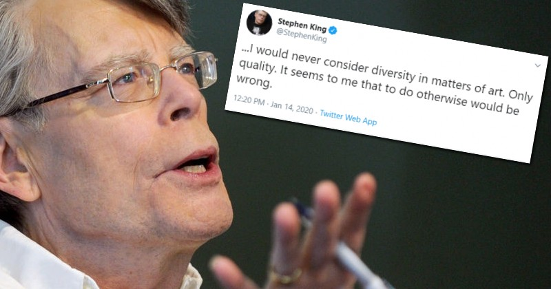 "Stephen King Savaged by 'Woke' Mob For Saying Art Should be Judged on Quality, Not ""Diversity"""