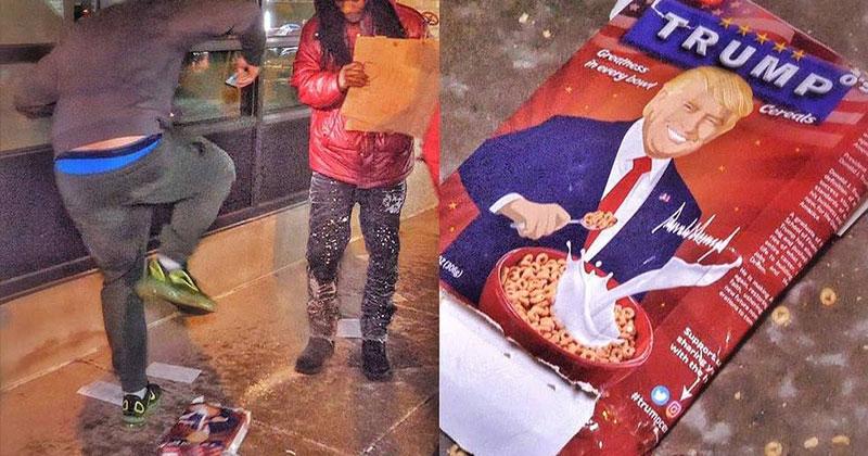 Dem vs Trump Cereal Box
