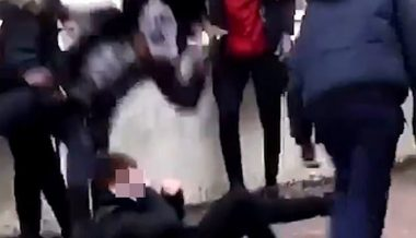 Police investigate 'racist attack' after footage shows white schoolboy being kicked and beaten by group of eight black teenagers in France