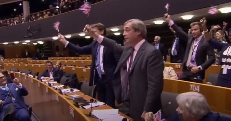 EU Vice President Orders British Flags Removed From Parliament After Rousing Farage Brexit Speech