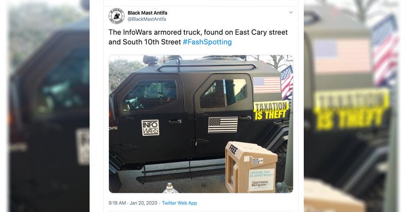 Antifa SJWs Dox Virginia Gun Rally Patriots Using Hashtag #FashSpotting