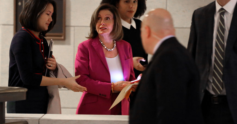 Pelosi is 'monitoring the situation' after Iran attack — from the bar?