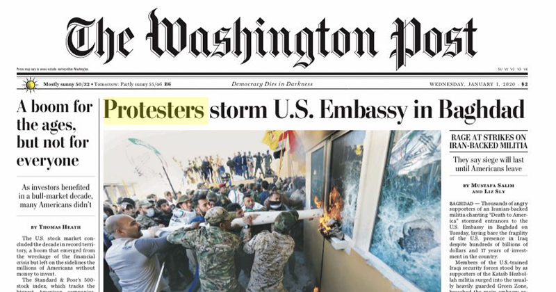 FAKE NEWS 2020: Washington Post, NY Times, CNN All Call Terrorists 'Protesters'
