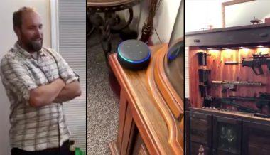 Viral Video: Man Uses Amazon Alexa to Reveal Giant Gun Vault