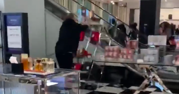 Watch: Man Destroys Over $100,000 in Cosmetics at Department Store