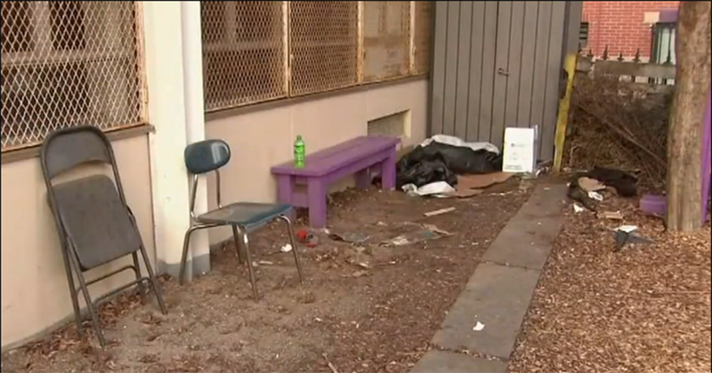 Parents rage as homeless litter Boston school grounds with feces, syringes, used condoms