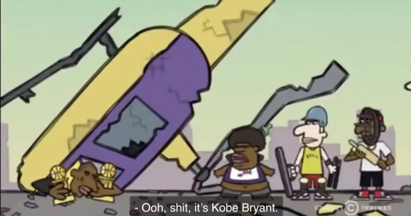 Eerie: Cartoon Depicts Kobe Bryant Helicopter Crash in 2016
