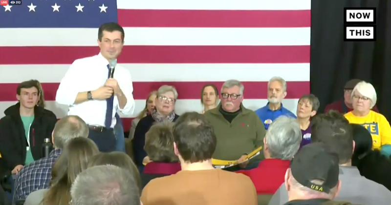 "Cringe: Pete Buttigieg Revives Jeb Bush's ""Please Clap"" Moment"
