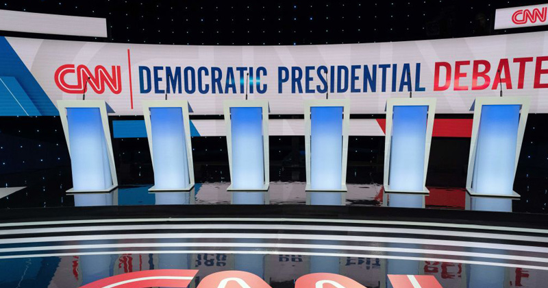 Watch Live! Democrat Debate a Ghost Town as Thousands Gather Outside Trump Rally