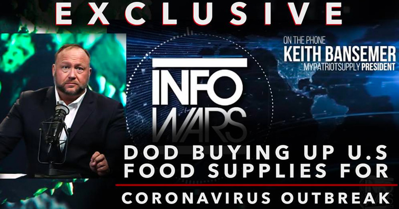 EXCLUSIVE: D.O.D. Buying Up American Food Supplies For Coronavirus Outbreak