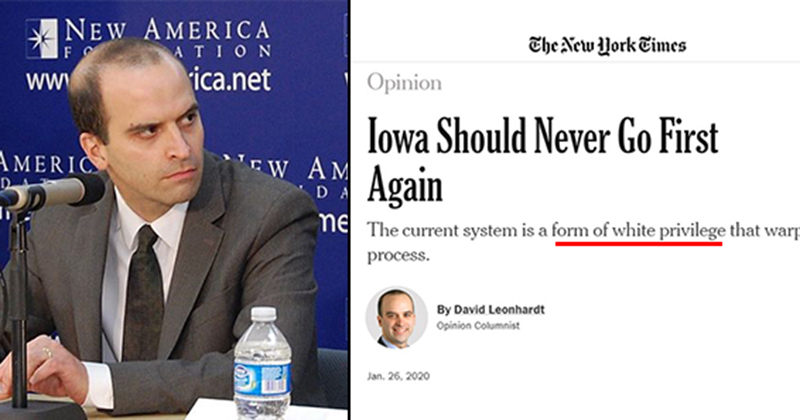 "NYT: ""Iowa Should Never Go First,"" It's ""Among The Country's Whitest States"""