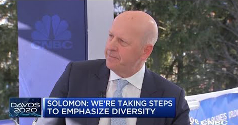 Goldman CEO Says Firm Won't Fund IPOs for Companies with All-Male, All-White Board