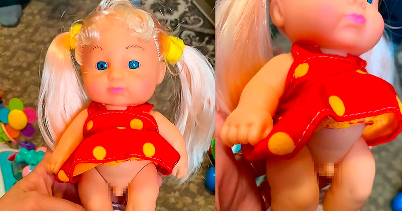 Trans Doll For Children Features Pigtails, A Dress and A Penis
