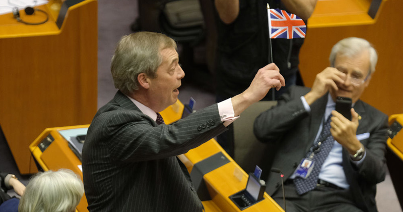 Watch: Brexit Party Leader Nigel Farage's Mic Cut During Fiery Speech to European Parliament