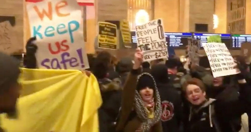 Watch: Anti-Police Activists Destroy NYC Transit Property In Subway Fee Protest