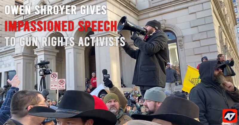 Owen Shroyer Gives Impassioned Speech To Gun Rights Activists in Virginia