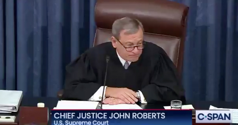 Watch: Justice Roberts Refuses To Read Question from Sen. Rand Paul About Eric Ciaramella